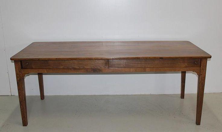 Table de Ferme en Châtaignier & Chêne XIXe