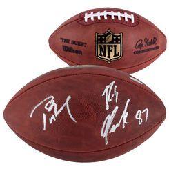 Tom Brady & Rob Gronkowski New England Patriots Autographed Pro Football