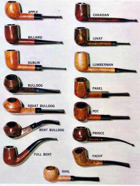 Smoking pipe shapes