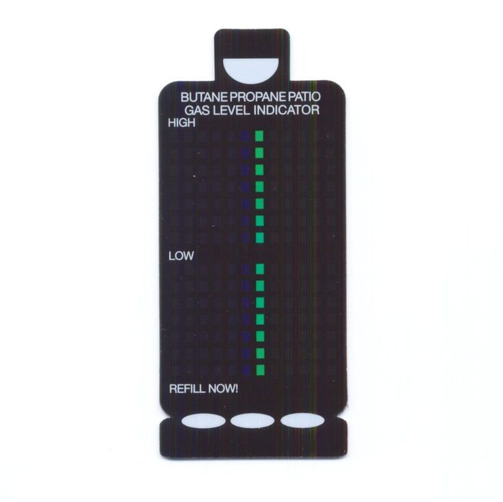 Gas Level Indicator on magnetic backing. Thickness of a credit card Can be used on any size propane, butane or mixed fuel gas gas cylinders including the Camping Gaz 904 and 907 No more returning of half full bottles!