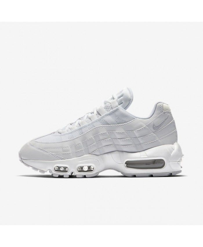338a3cd8f63a18 Nike Air Max 95 Womens Og White Pure Platinum Shoes Outlet