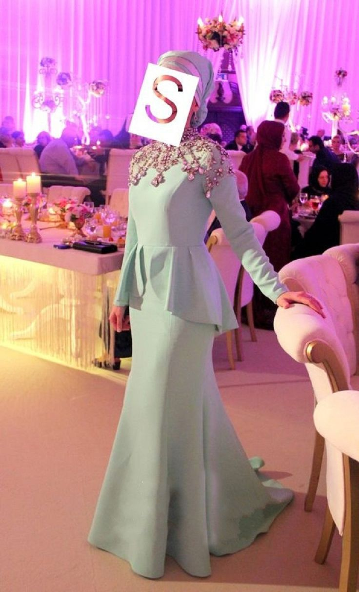 Find More Evening Dresses Information about Long Sleeve Arabic Evening Dresses Embelished Beaded Rhinestone Peplum Islamic Evening Gowns Damen Kleider Lang Elegant,High Quality gown evening,China gown couture Suppliers, Cheap gown with lace sleeves from Suzhou Relia Formal Dress on Aliexpress.com