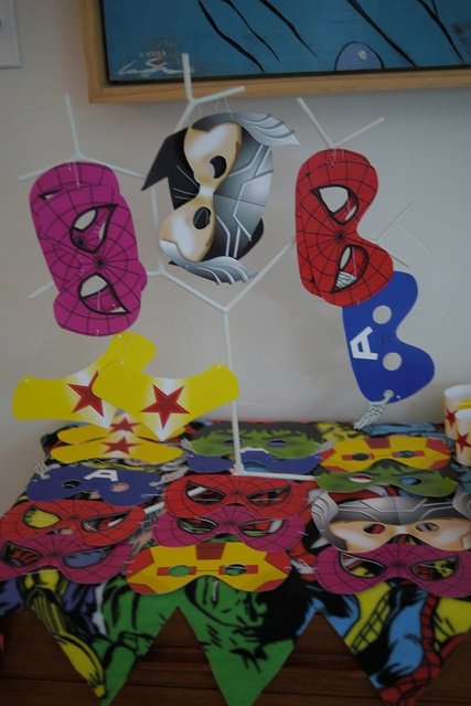 Superhero birthday party for the kids #mask