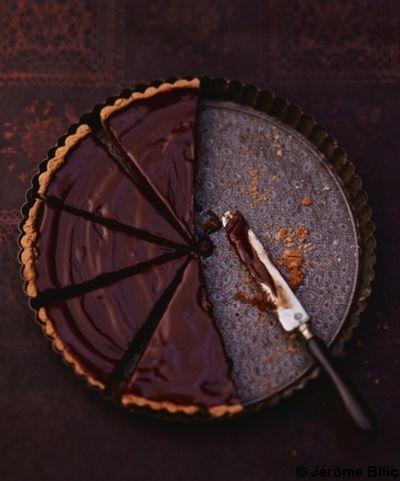 Tarte au chocolat pour 6 personnes - Recettes Elle à Table