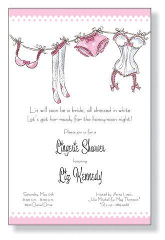 Dainty Lingerie Party Invitations by Inviting Company - Invitation Box