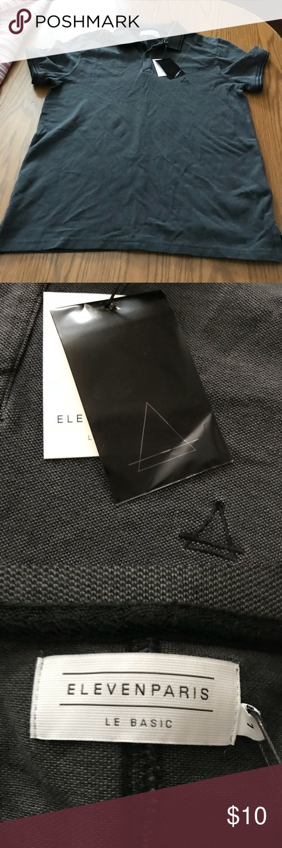 Ladies Polo Shirt new with tags Black/charcoal polo shirt. Soft material. Tops