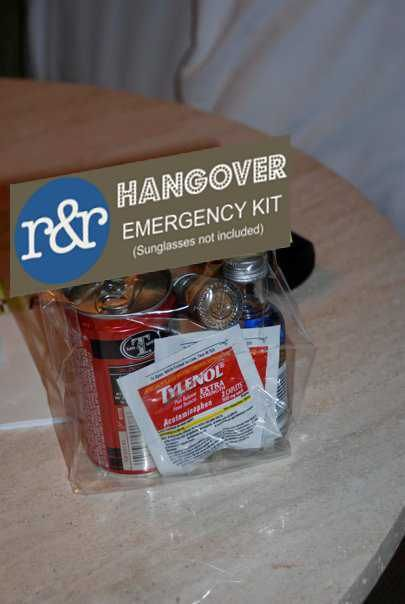 Super cute, and extremely clever. Mini Hangover Kits, great for bridal parties or trip with the girls.
