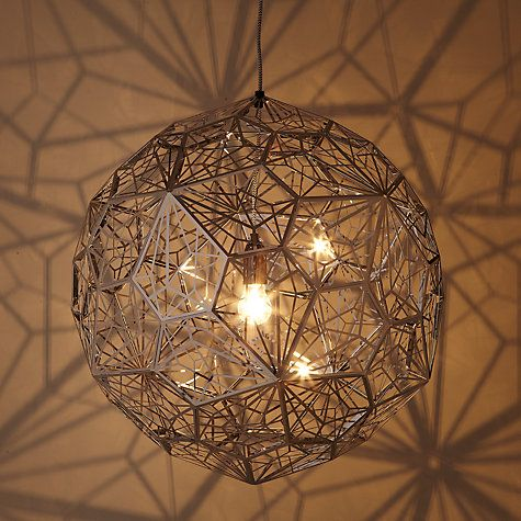 Wow. In another life... Buy Tom Dixon Etch Web Pendant, Steel Online at johnlewis.com