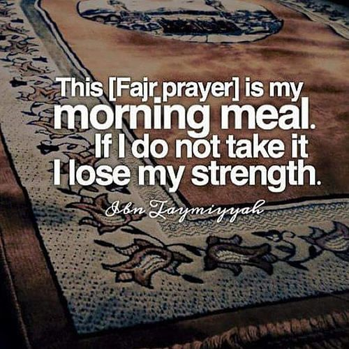Fajr namaz is our first round against satan.