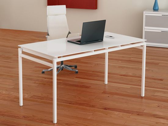 scandinavian designs the nova desk comes with a snow white finished metal frame and - Scan Design Desk