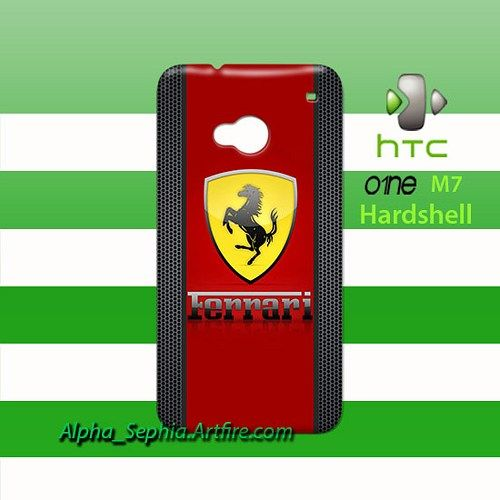 Ferrari Logo HTC One M7 Case Cover Hardshell