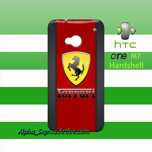Ferrari Logo HTC One M7 Case Cover Hardshell