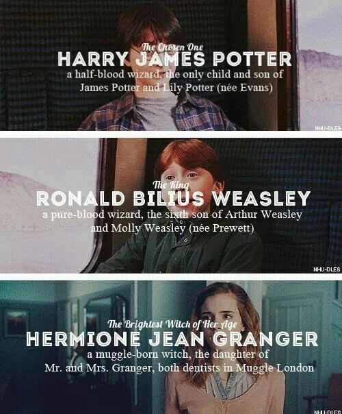Harry, Ron, Hermione
