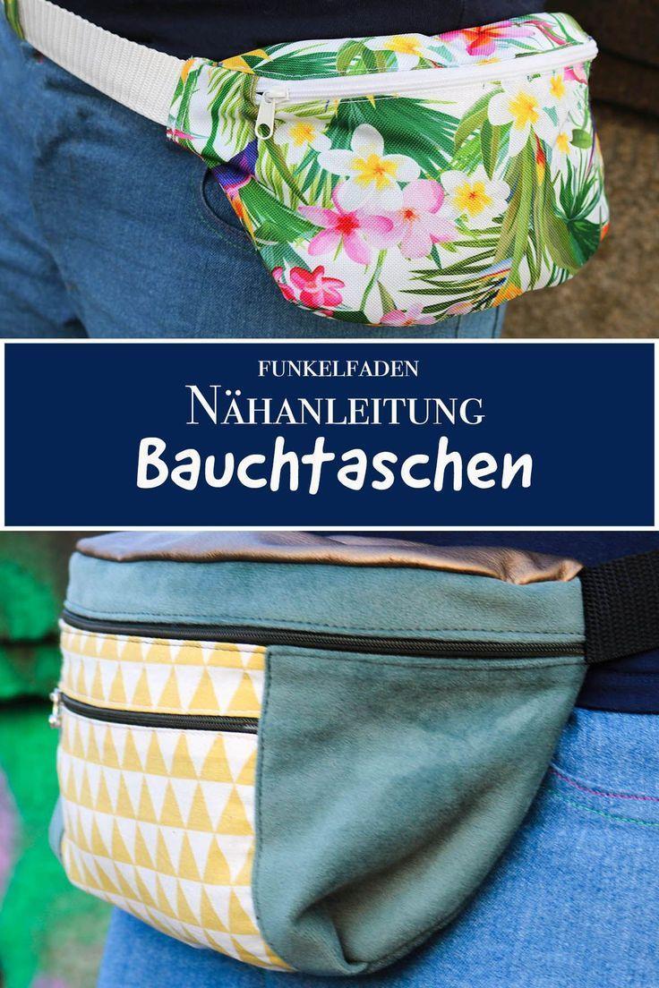 Gratis Nähanleitung – Bauchtasche nähen / Freebook Nähen für Anfänger