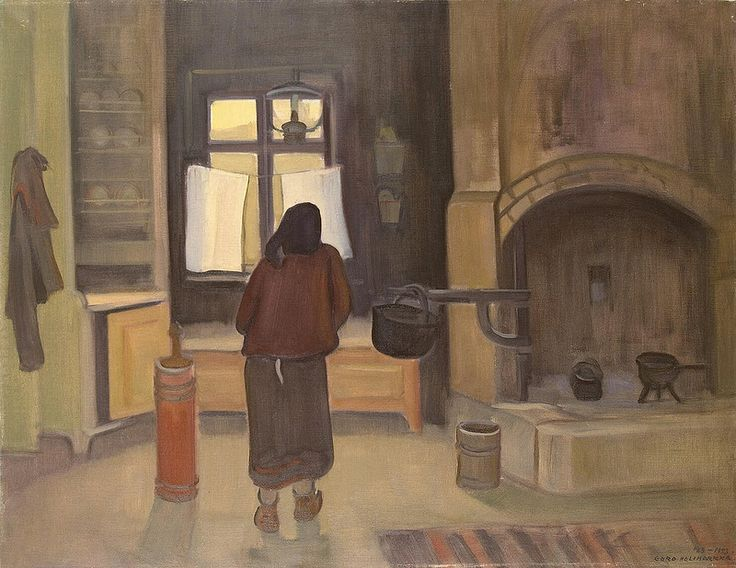 Eero Alexander Nelimarkka - Morning in a Peasant House