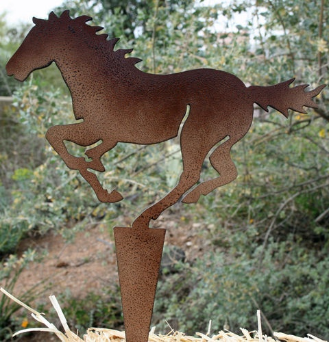$23.99 #Garden art Metal Running #Horse Made in USA   http://stores.ebay.com/Cowgirl-Oasis  free shipping
