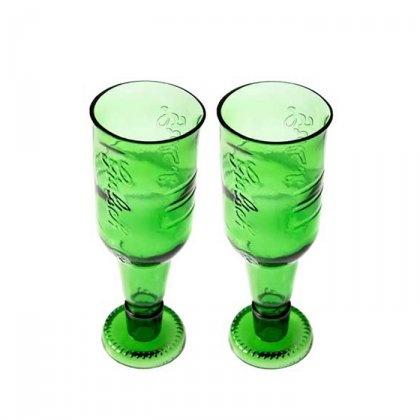 2 kielichy z recyklingu (proj. ekodizajn)