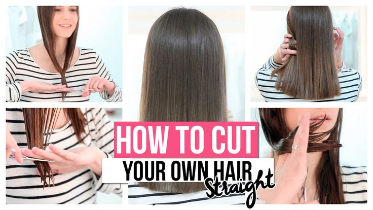 HOW TO CUT YOUR OWN HAIR STRAIGHT. This is the most useful hair cutting tutorial I've seen yet!!!