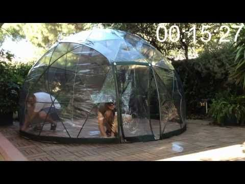 no tools needed !  just under 20 mins ...  www.gardenigloo.com  649 € — Including VAT and Free Shipping in EU