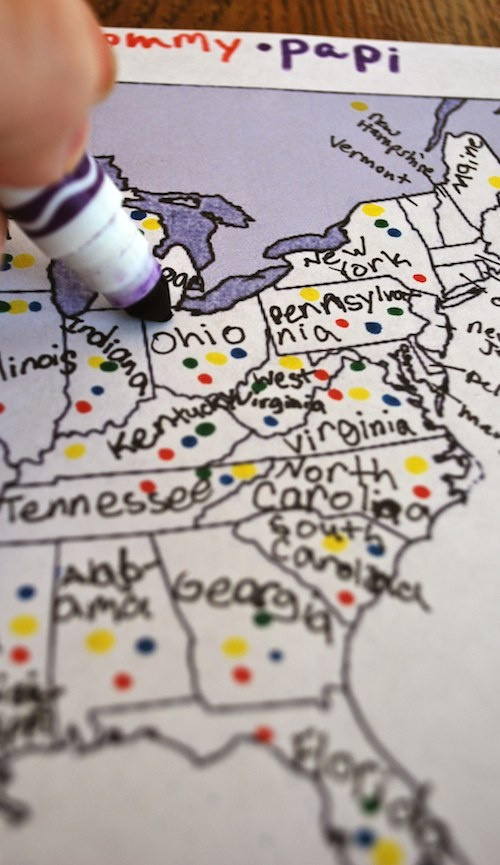 Kids: take a poll: How Many States Have You Been To? Learn geography and map skills while having fun!