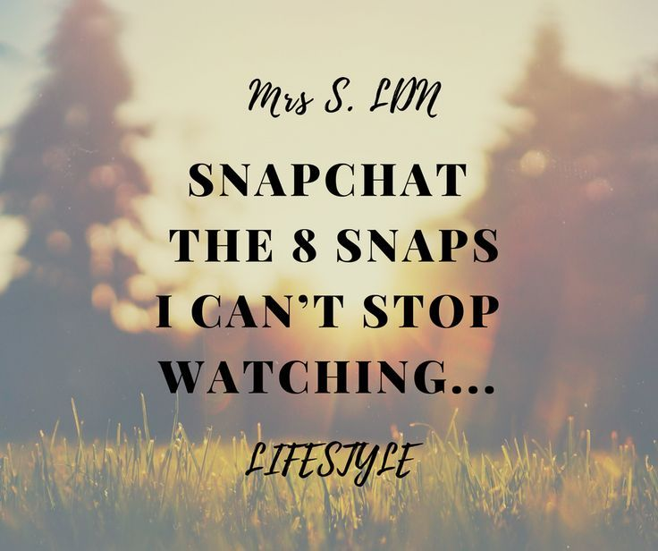 Snapchat | People to Follow on Snapchat | Jen Hatton | So Sue Me | Marissa Carter | Claire Balding | White Moose Cafe