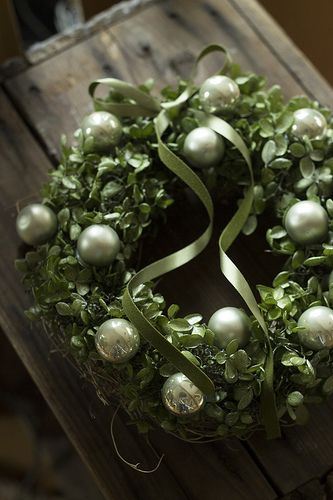 Neat addition to boxwood wreath - still has nice simple design.