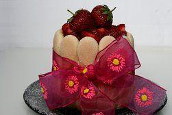 Jahodový letní dortík