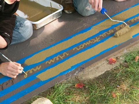 Make Your Own Floorcloth. Painting Concrete PatiosHow ...