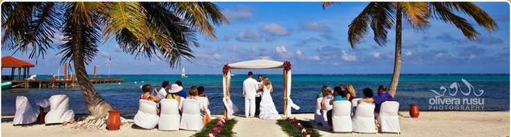 Grand Caribe Belize Beach Weddings, Island Wedding Package, Tropical Wedding, Palm Tree Wedding,belize destination wedding