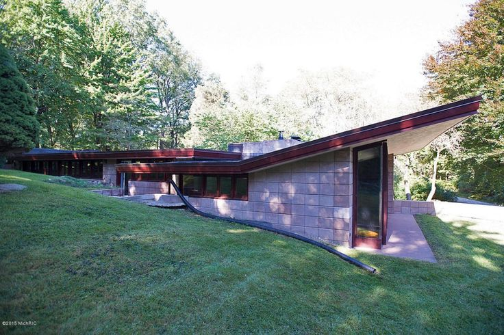 17 best images about flw the acres galesburg country for Usonian house plans for sale