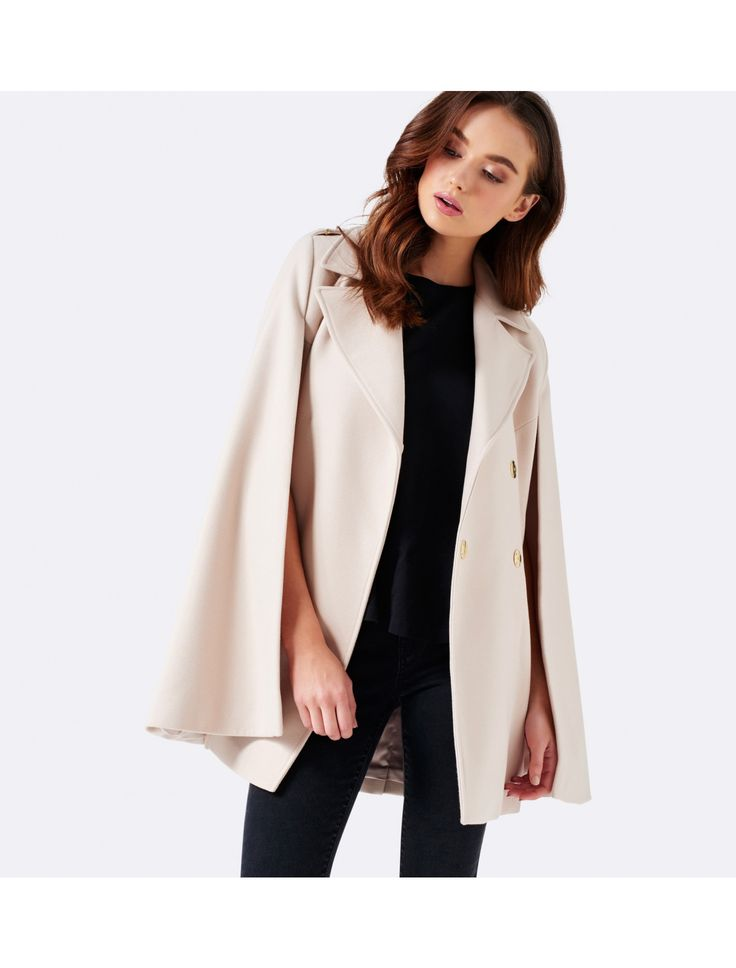 Layer up in style with our Alana cape coat, perfect to add a little polish to any ensemble.