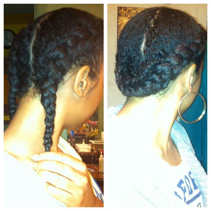 Simple Twist Styles For Natural Hair : Never sleep on the good old french braid y all