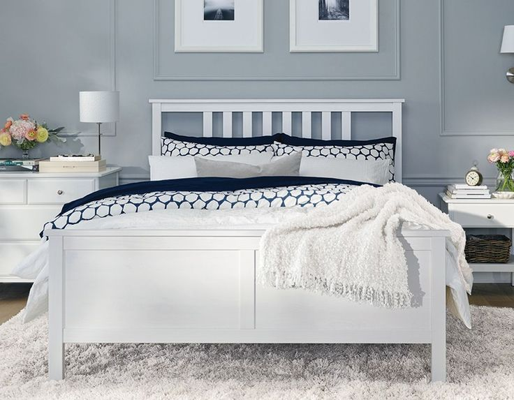 best 25 ikea full bed frame ideas on pinterest headboards for full beds bed frame with headboard and platform bed with drawers - Queen White Bed Frame