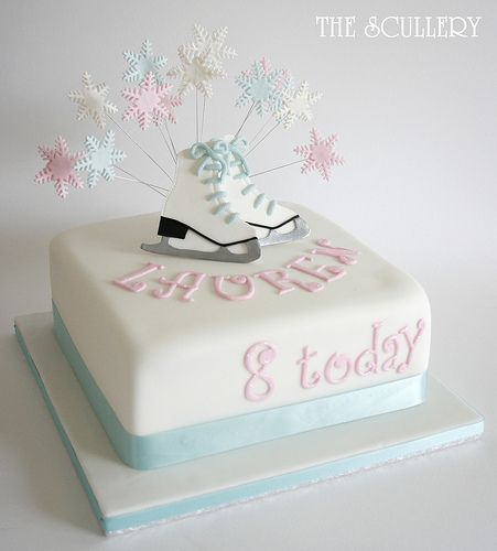 Ice skating boots cake