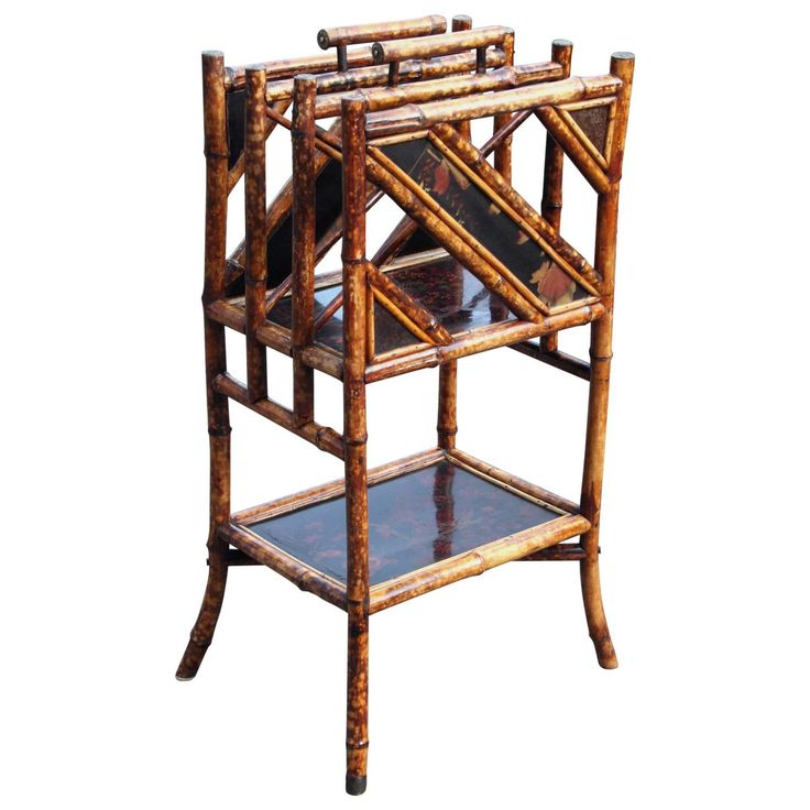 19th Century Bamboo Canterbury   From a unique collection of antique and modern magazine racks and stands at https://www.1stdibs.com/furniture/more-furniture-collectibles/magazine-racks-stands/