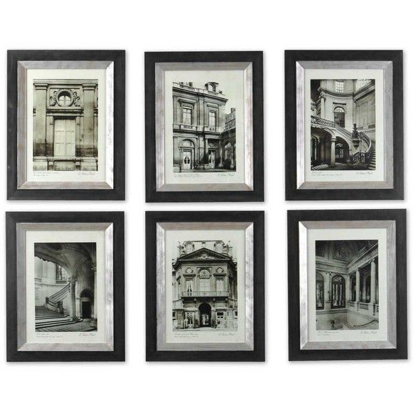 Uttermost Paris Scene Framed Art Set/6 ($326) ❤ liked on Polyvore featuring home, home decor, wall art, beige, parisian wall art, paris wall art, framed wall art, parisian home decor and wooden home decor