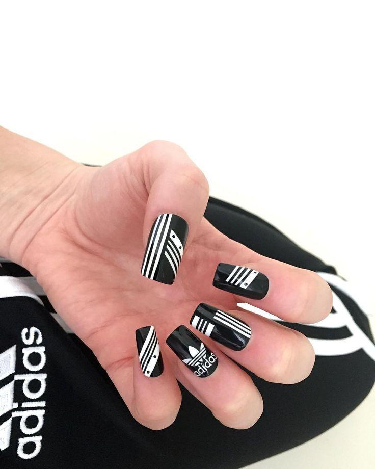 Адидас картинки на ногти