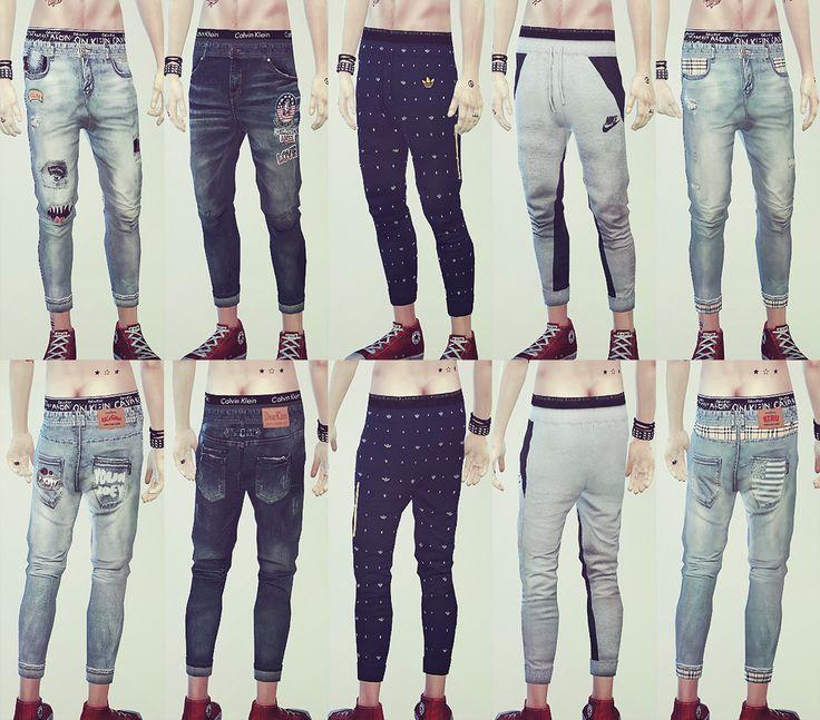 My Sims 4 Blog: Baggy Jeans for Teen - Elder Males by Ooobsooo