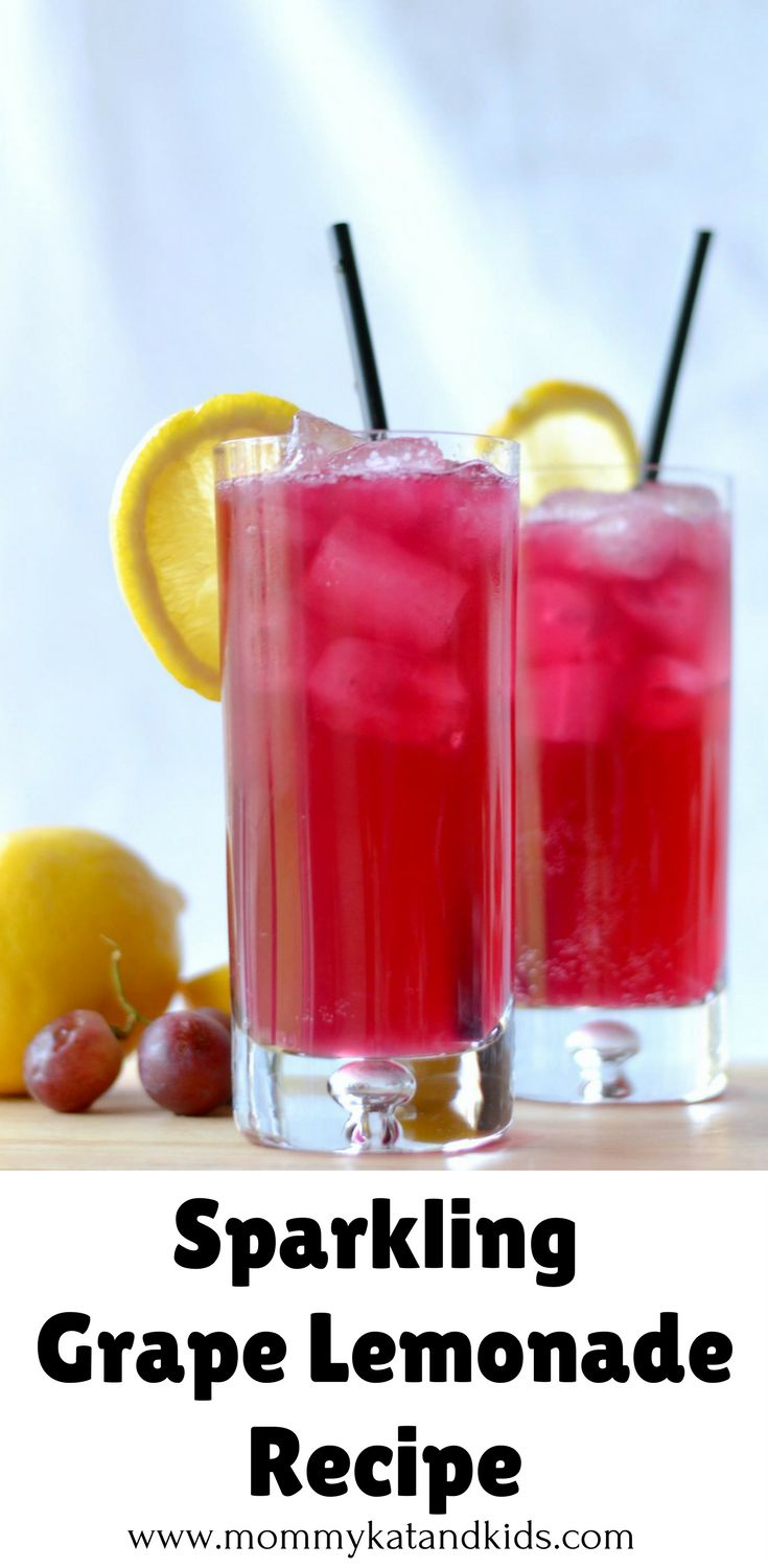 Are you looking for a super easy, yet delicious summer drink for you or your kids? This sparkling Grape Lemonade recipe will leave you craving more. This refreshing drink is perfect for a summer get together and only takes 5 minutes to make! Make sure you save this to your drink board so you can find it later.