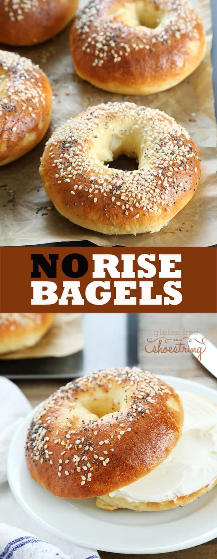 These no rise gluten free bagels are made with yeast, but still ready in about 40 minutes because there's no rise at all. No planning necessary!