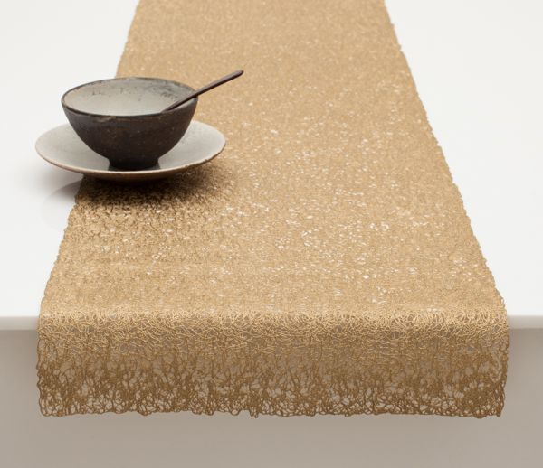 Beautiful Scribble Runner Placemat In Brass Design By Chilewich