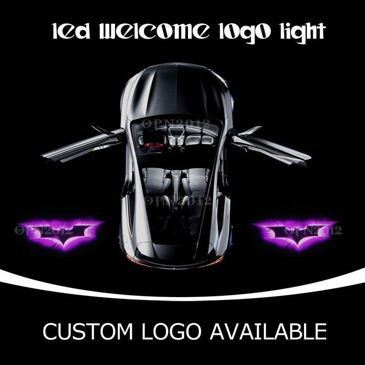 Двери автомобиля СВЕТОДИОДНЫЙ Проектор Фиолетовый Темный Рыцарь Бэтмен Логотип Лазерный Свет Тень Двери Предоставлено Добро Пожаловать Призрак ГОБО Лужа Света 2416