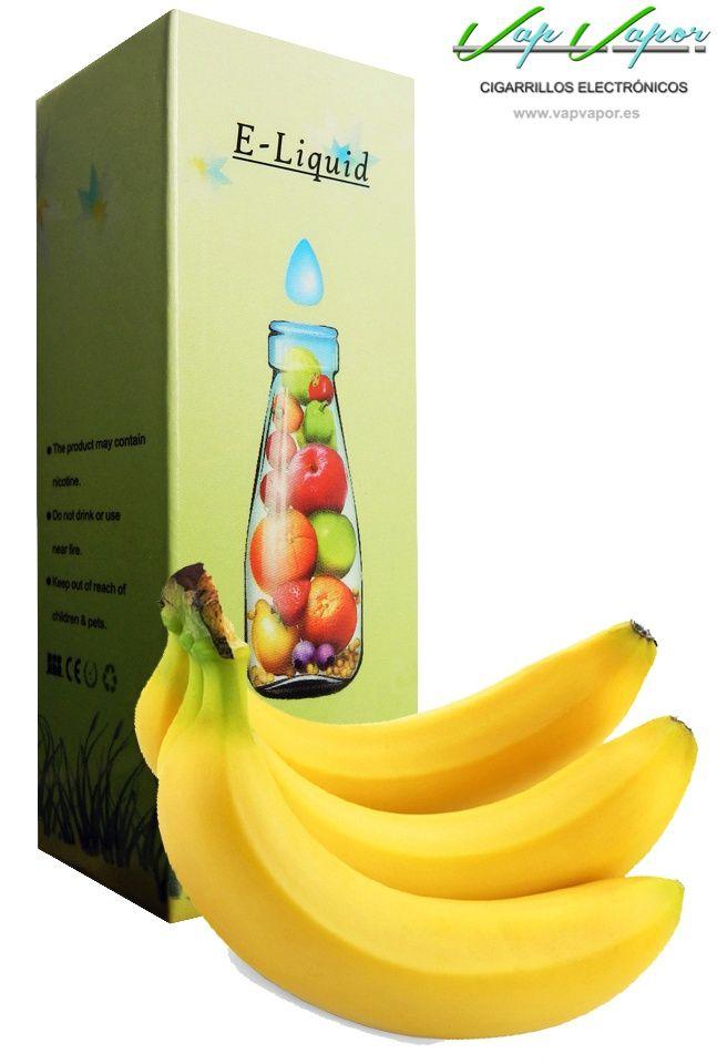 e-liquid Plátano  http://www.vapvapor.es/liquido-frutas-cigarrillo-electronico  Líquidos para cigarrillos electrónicos de la marca e-liquid. Nuestra marca e-liquid se caracteriza por su gran variedad de aromas y sabores.     - e-liquid sabor Plátano (fruta)     - Categoría: frutas