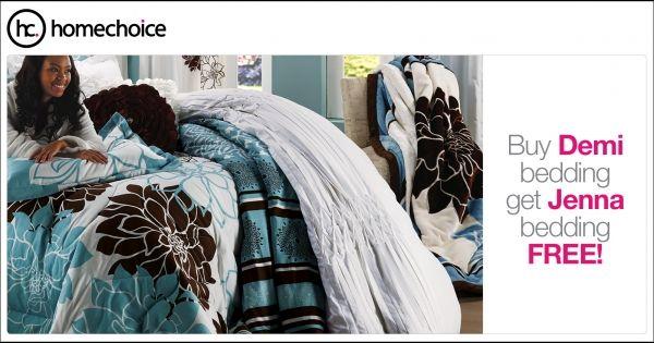 Get Jenna bedding free! Buy the Demi bedding set from R109p/m and get a free Jenna bedding set. #ad