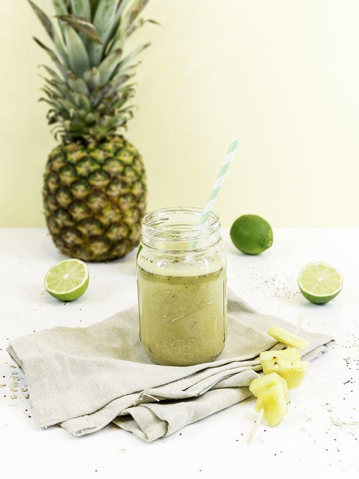 http://www.anaiscassisframboise.fr/smoothie-detox-ananas/ Smoothie détox : thé vert ananas - Anaïs Cassis Framboise
