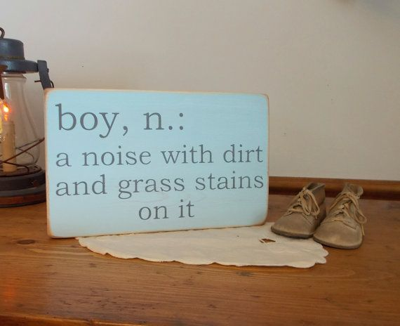 Boy Definition Distressed Wood Sign Baby Shower Baby Reveal Nursery