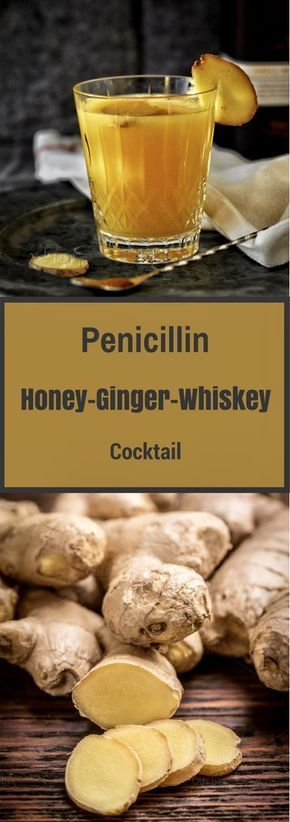 Penicillin, Honey Ginger Whiskey Cocktail may not really substitute your flu medicines but it certainly has ingredients that soothe the cold and flu symptoms. This Penicillin, Honey Ginger Whiskey Cocktail got – honey and ginger in it.