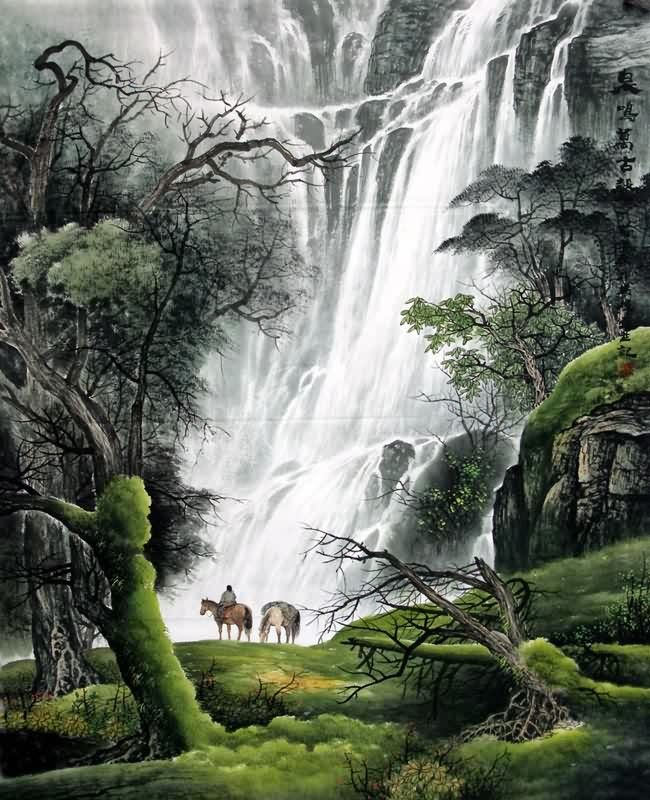 Page 3 Chinese Waterfall Paintings, Chinese Waterfall Wall Scrolls ...