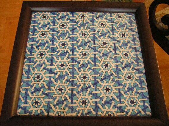 Çini masa-tiles table