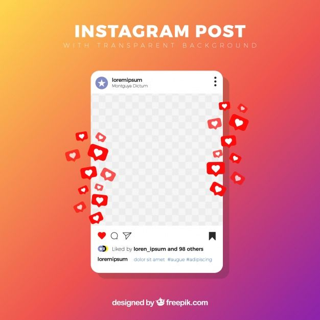 Download Instagram Post With Transparent Background For Free Instagram Mockup Instagram Posts Transparent Background